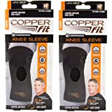 """New Copper Fit Knee Sleeve, Men & Women for Compression, Flexibility, Anti-Odor-Size XL-19.5""""-21""""-Total 2 Knee Sleeves"""