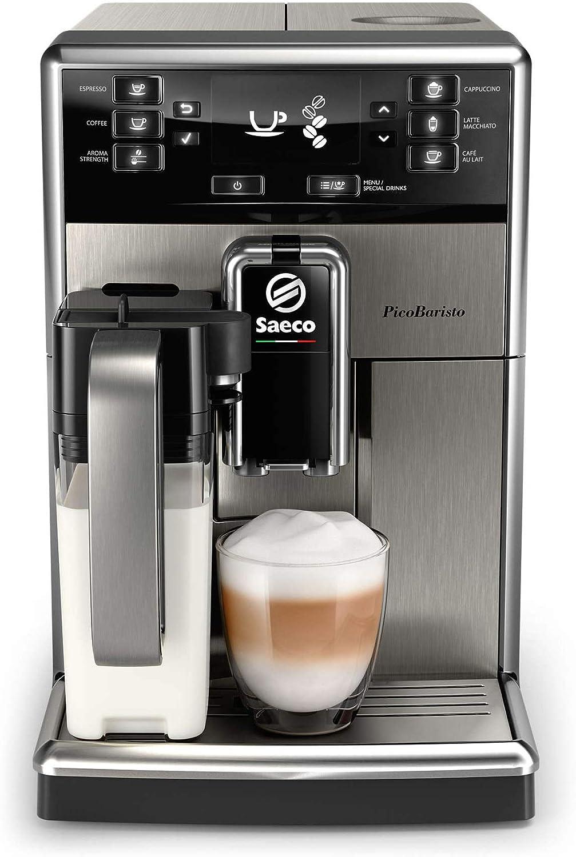 Saeco sm5473/10 PicoBaristo – Cafetera automática con jarra de leche, 1.8 liters, acero inoxidable: Amazon.es: Hogar