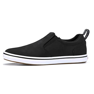XTRATUF Sharkbyte Nubuck Leather Men's Deck Shoes, Black (XSB-000): Home Improvement