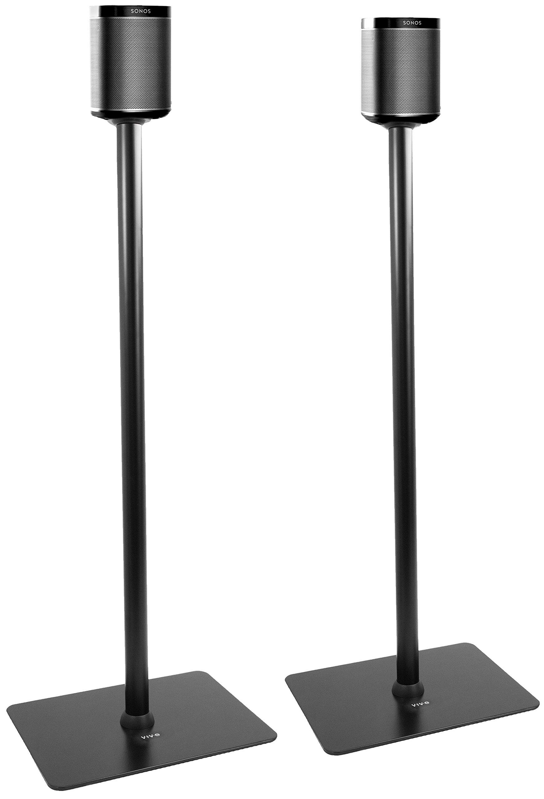 VIVO Black Speaker Floor Stands (Pair) Designed for SONOS PLAY 1 and PLAY 3 Audio Speaker Mounts (STAND-SP03C)