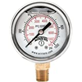 Winters pfq series stainless steel 304 dual scale liquid filled winters pfq series stainless steel 304 dual scale liquid filled pressure gauge with brass internals thecheapjerseys Choice Image