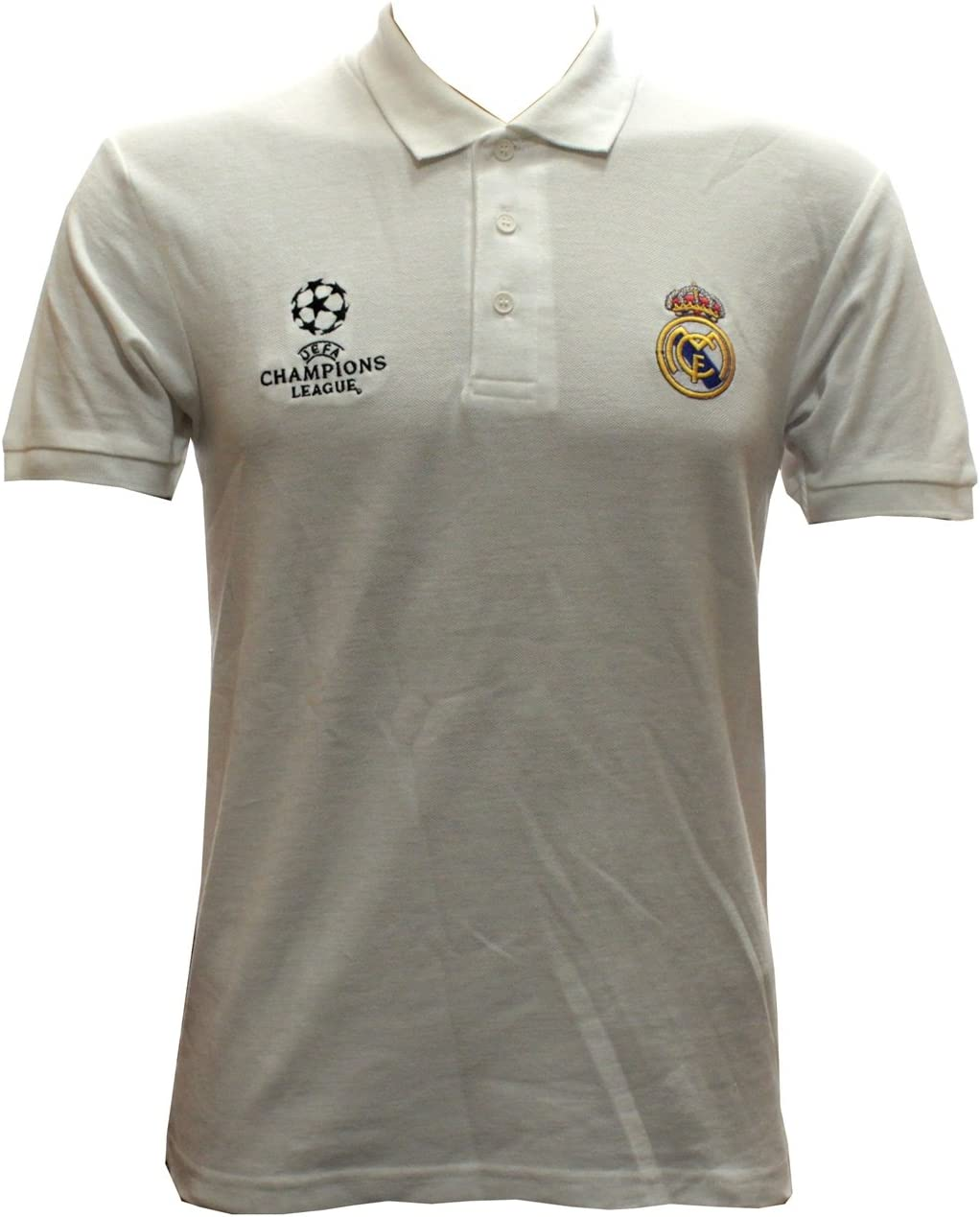 Real Madrid – Polo Camiseta en blanco UEFA Champions League tamaño ...