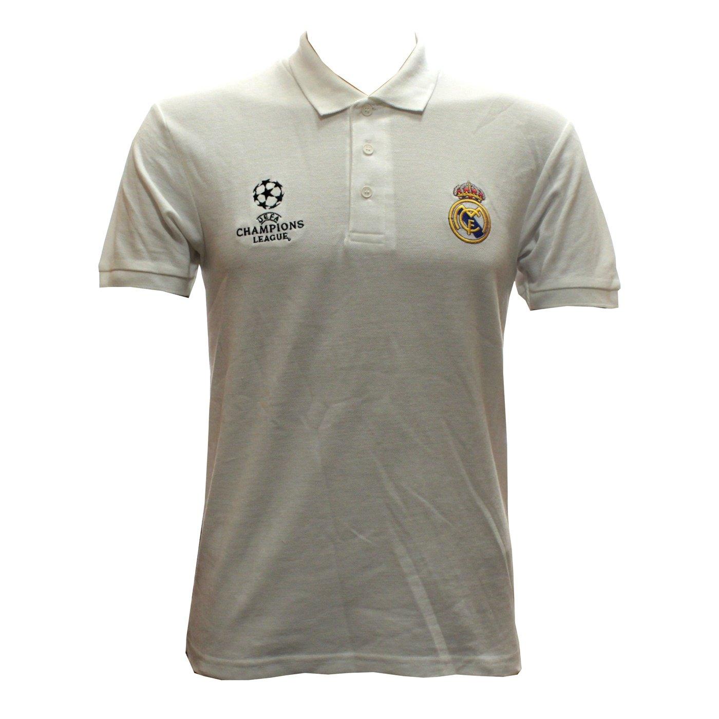Real Madrid - Polo Camiseta en blanco UEFA Champions League tamaño ...