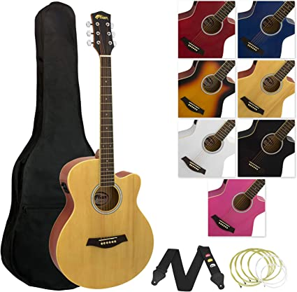 Tiger Music ACG4-NT - Guitarra electroacústica (tilo), color ...