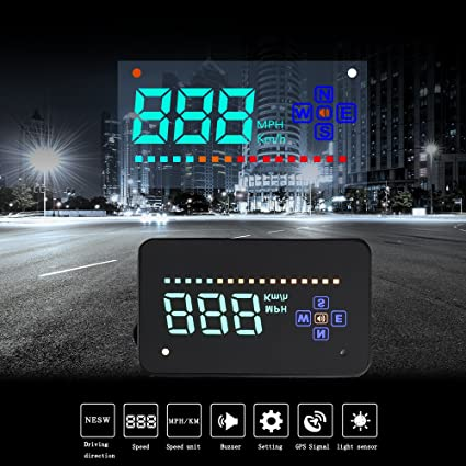 XCSOURCE A2 Car HUD Proyector de Parabrisas Head Up Display ...