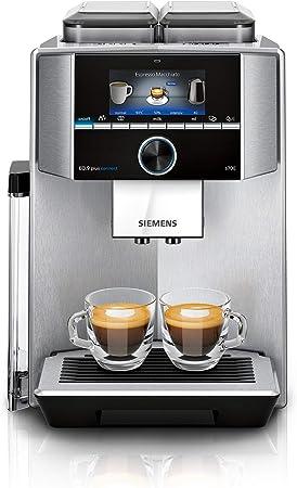 Siemens TI9578X1DE EQ.9 plus connect s700 - Cafetera automática (2 recipientes para granos, mecanismo de molido, 1500 W, acero inoxidable): Amazon.es: Hogar