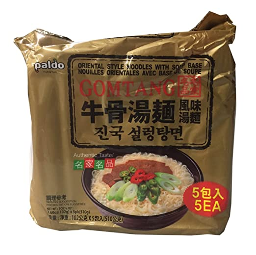 Amazon.com : Paldo Korean Ramen Family Pack (Gomtang) : Grocery & Gourmet Food