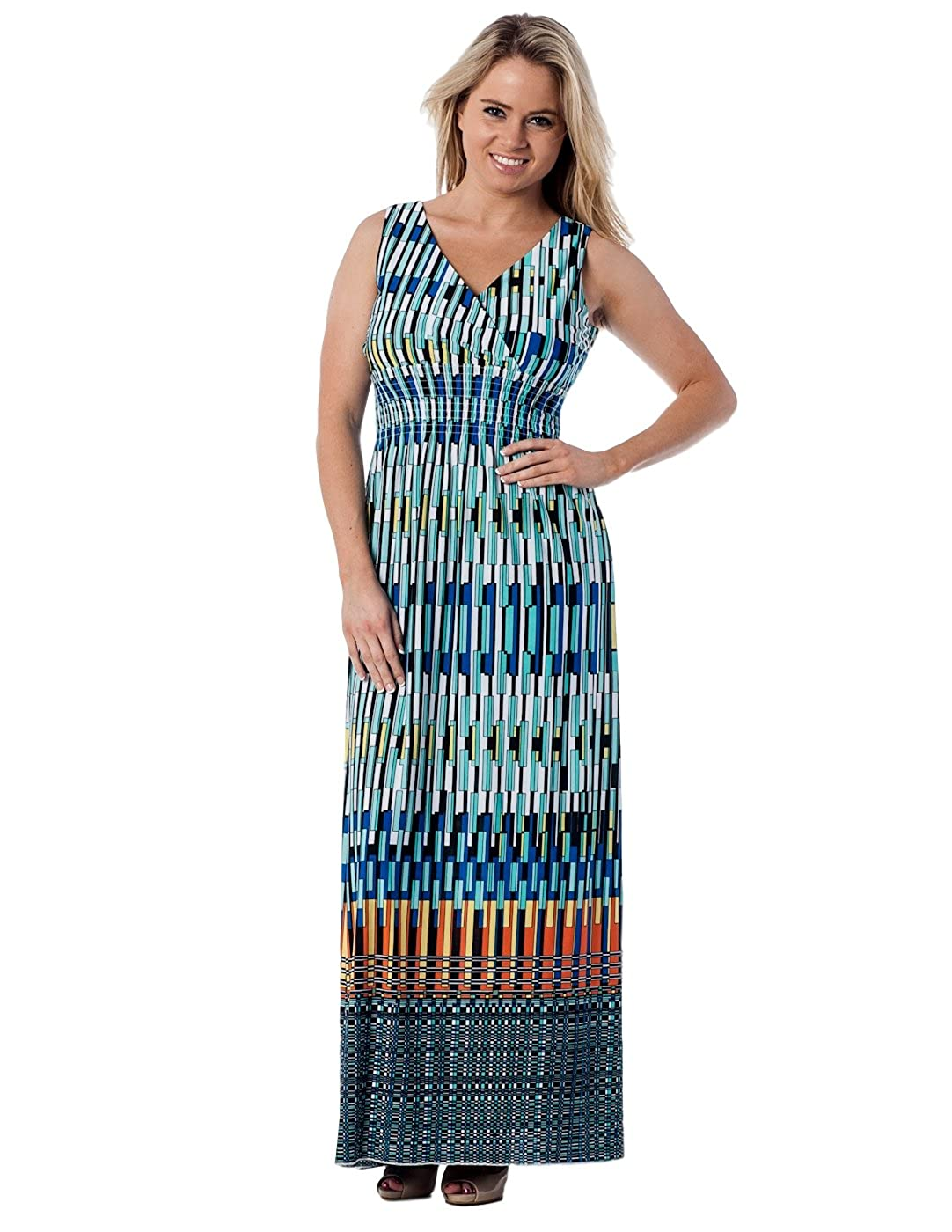 dadde2bacfc Sleeveless with covered elastic smocking floor length maxi dress! Full  length of dress is 55 inches from top to bottom. Effortlessly Chic!