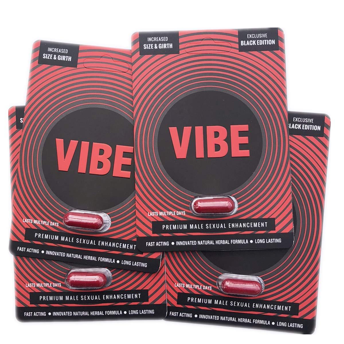 The Red VIBE Black Premium Men Male Enhancement Enhacing Pills (4) by Vibe