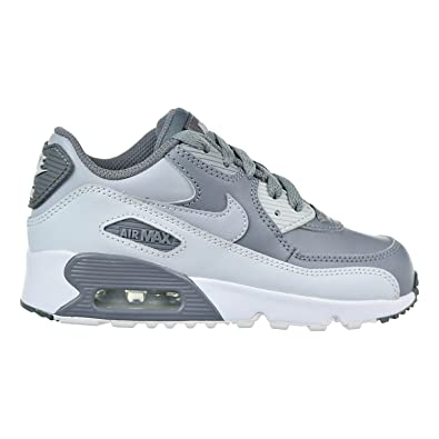 premium selection 07e3b e1bbe Nike Air Max 90 Leather Little Kid (PS) Shoes Cool Grey Wolf Grey