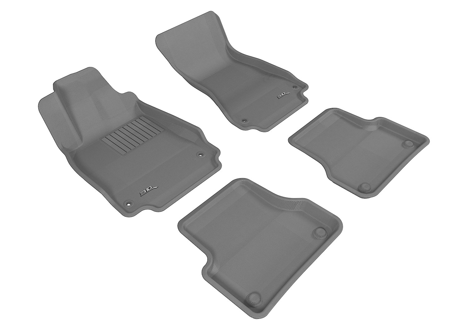 Kagu Rubber 3D MAXpider Second Row Custom Fit All-Weather Floor Mat for Select Audi Models L1AD02221502 Tan