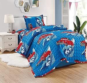 Comforter set 3 piece for kids,Cars,single size