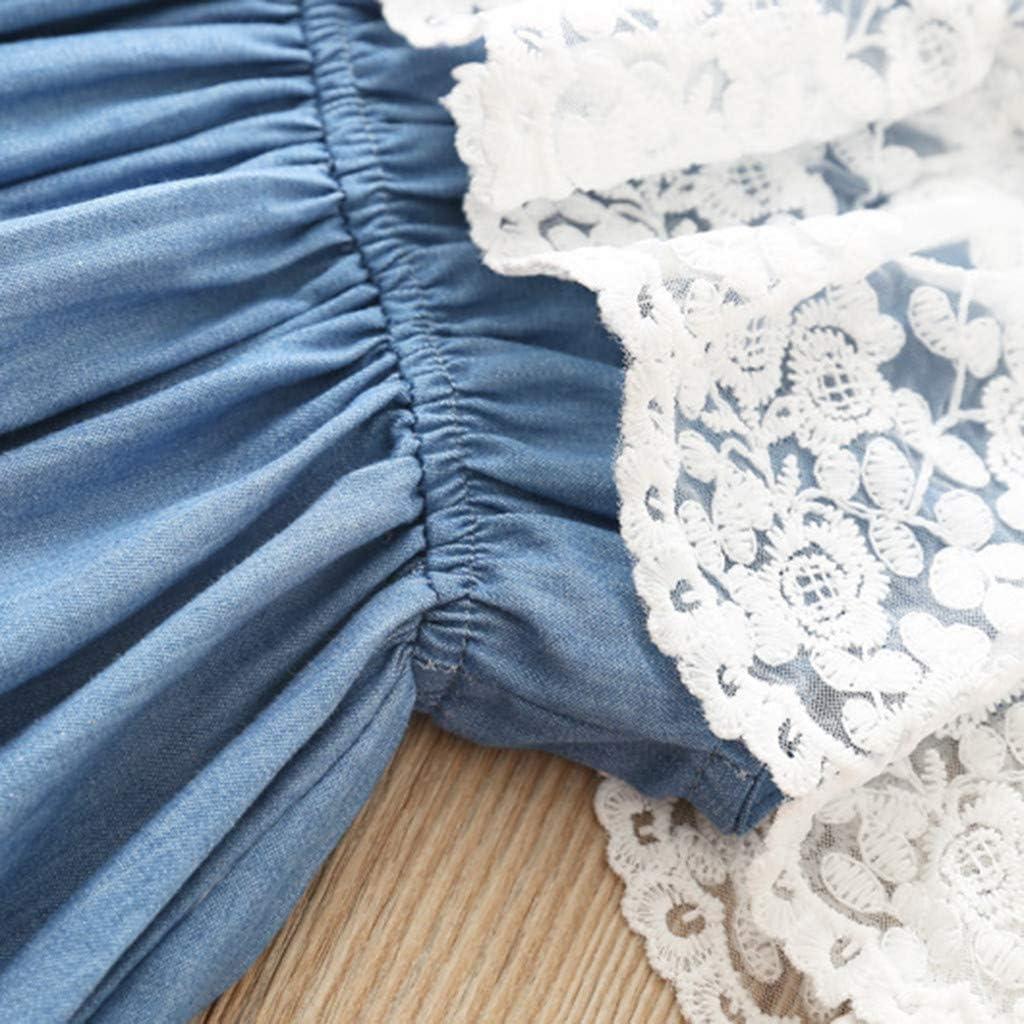 Hstore Fashion Girl Lace Dress Baby Denim Long Skirt Childrens Waist Skirt Baby Clothes