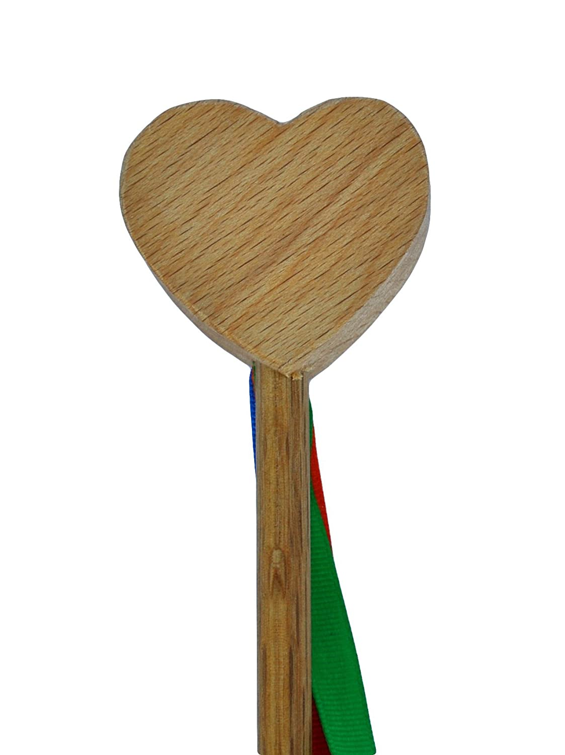Wooden Heart Wand with Ribbons