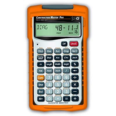 Calculated Industries 4065 Construction Master Pro Advanced Construction Math Feet-inch-Fraction Calculator