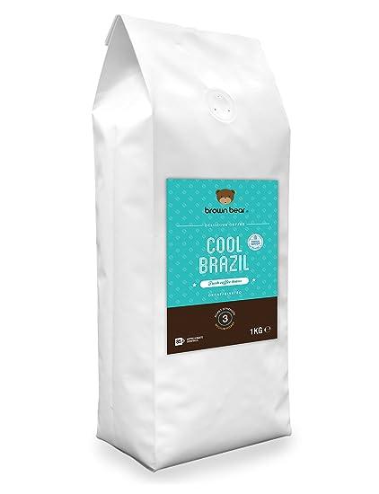 Brown Bear Cool Brazil Café En Grano Descafeinado mediante Proceso Suizo de Agua 1 kg
