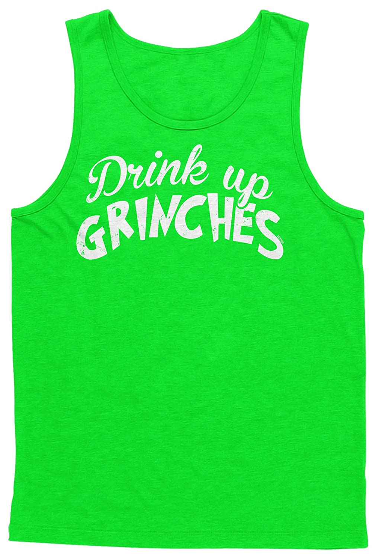 Blittzen Mens Tank Top Drink Up Grinches