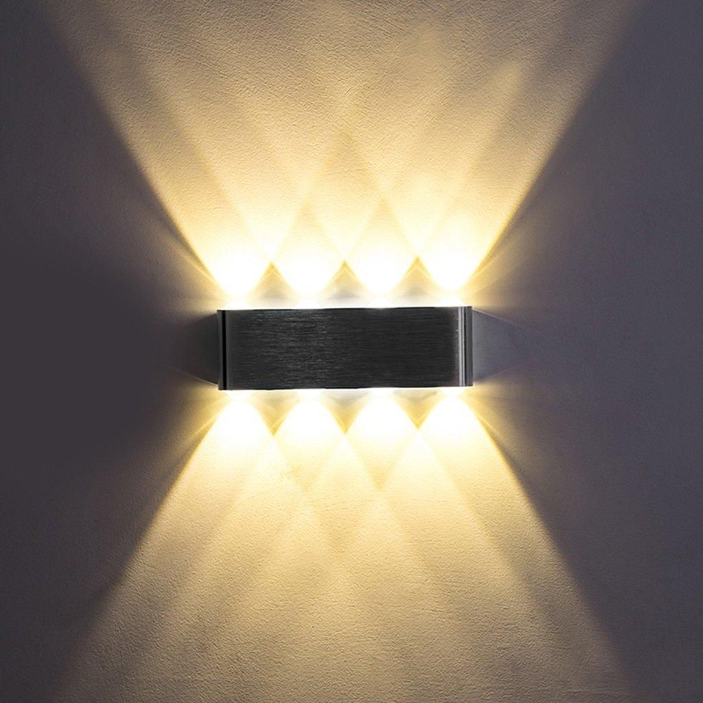 Wandleuchte lampe Wandleuchte Einfache LED Aluminium Wandleuchte Schlafzimmer Kopfteil Wandleuchte Wohnzimmer Flur Wandleuchte Warmes Licht Engineering Lampe (Farbe   B)