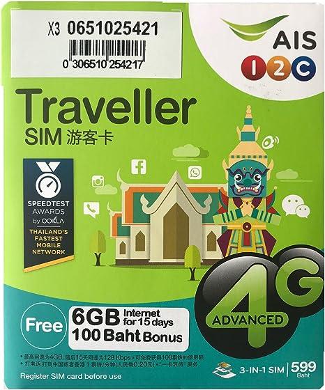 SIM prepago Tailandia - Internet 6GB in 4G - llamadas y textos ...