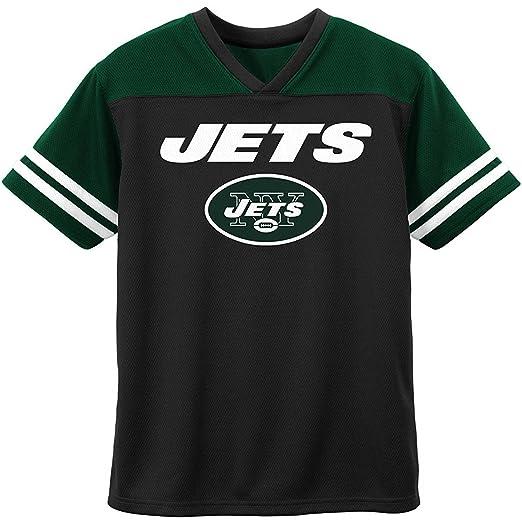 pick up e0dcc 88c7e Amazon.com: New York Jets Black Green NFL Boys Youth Team ...