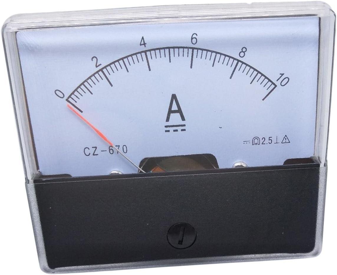 Analog Panel AMP Current Ammeter Meter Gauge DH-670 0-10A DC