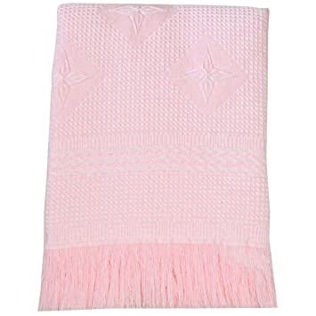 In 2 Sizes /& 4 Colours Pram,Cribs,Cot,Moses 100/% Cotton Baby Cellular Blankets
