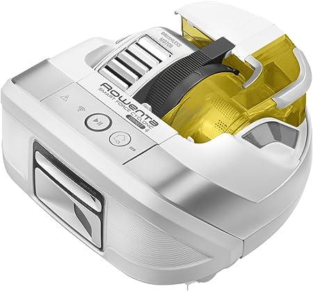 Rowenta Smart Force Cyclonic RR8024WH - Robot aspirador ciclónico alto rendimiento todo tipo de suelos con navegación inteligente, cámara láser integrada cepillo motorizado y conectividad smartphones: Amazon.es: Hogar