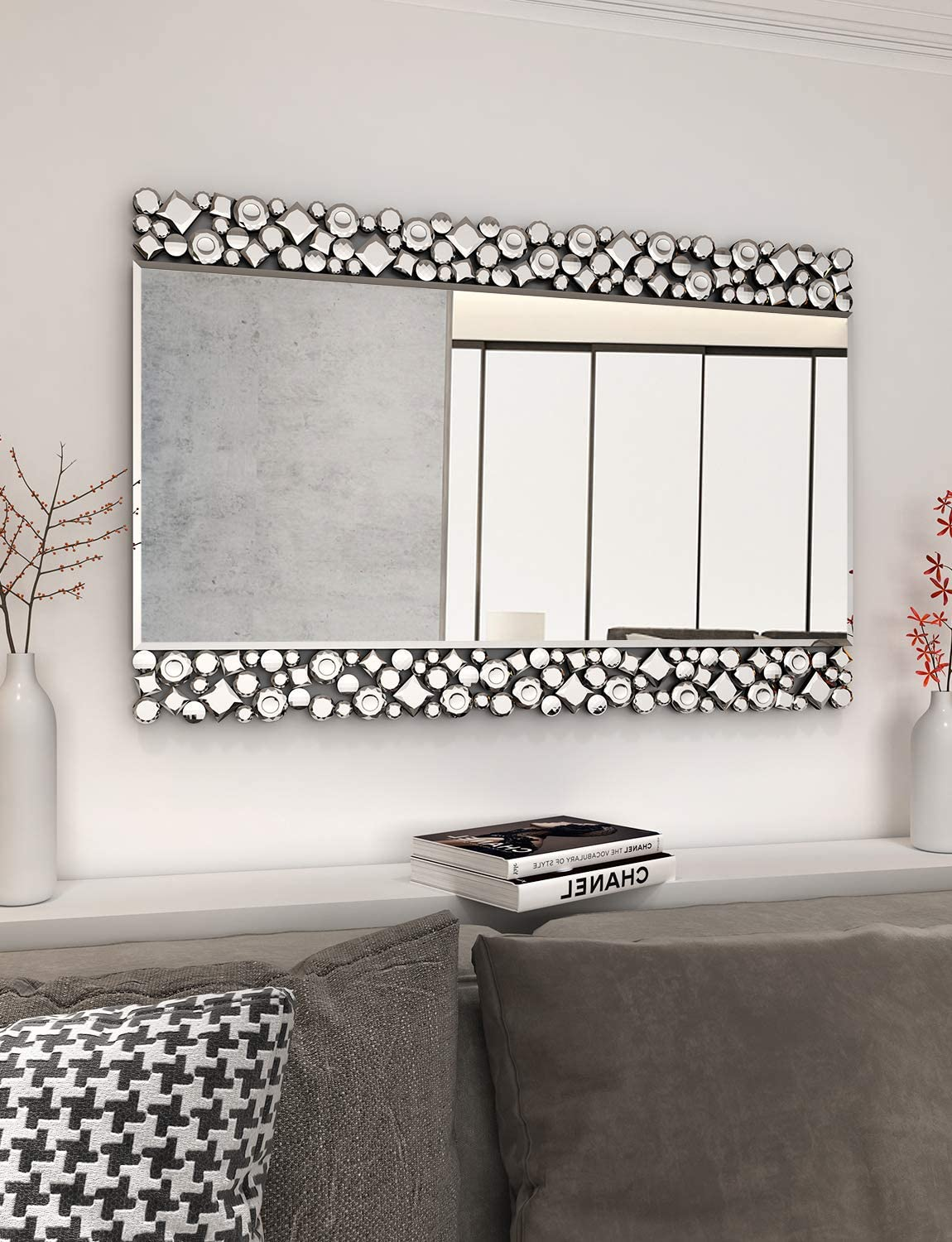 Gorgeous Wall Mirrors for Decor - 23.6'' X 35.4'' Rectangle Wall Mirror for Decor Fireplace Bedroom Livingroom