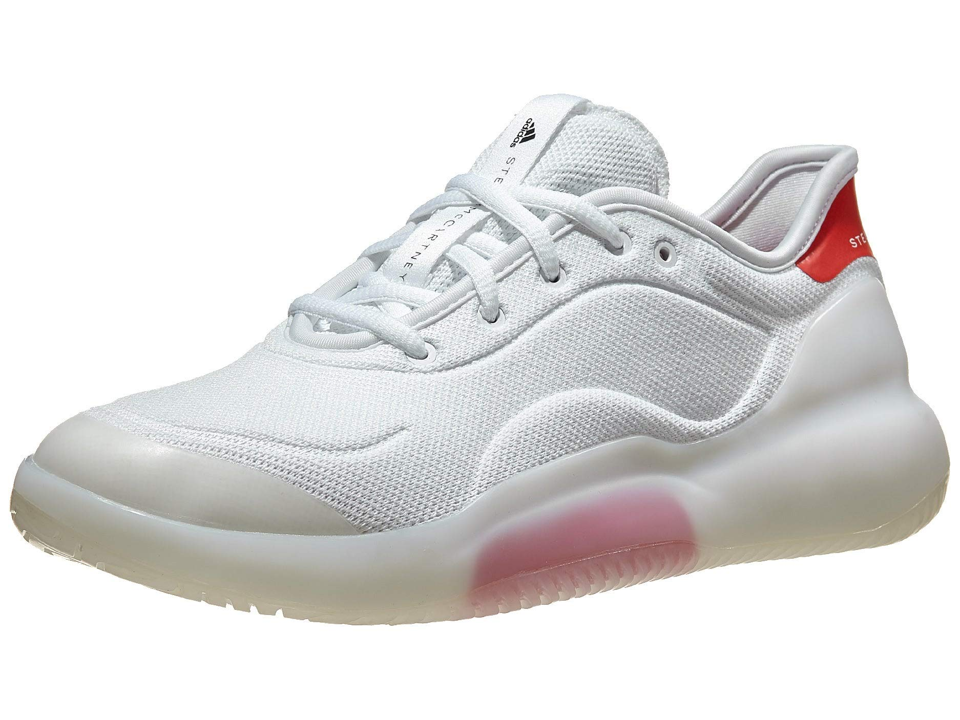 adidas Women's aSMC Court Boost WBD Tennis Shoe, White/Active Red/Utility Black, 11.5 M US by adidas