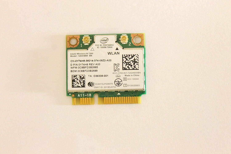 Dell Mini PCI Express Half Height Y74H6 WLAN WiFi 802.11n Wireless Card 7260HMW Inspiron 7537 5437 5