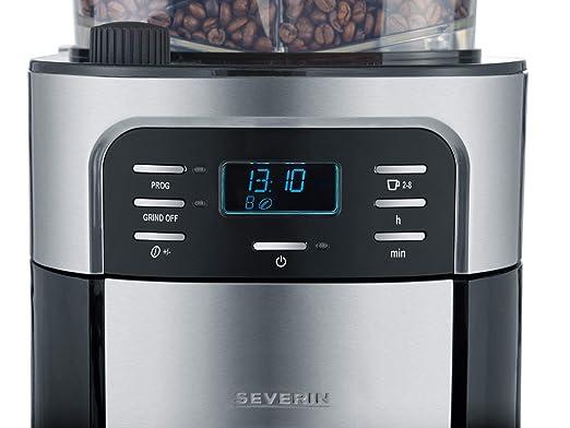 Severin KA 4812 Cafetera con Molinillo y Jarra Termo de Acero INOX, 1000 W, 1 Liter, Inoxidable, Negro: Amazon.es: Hogar