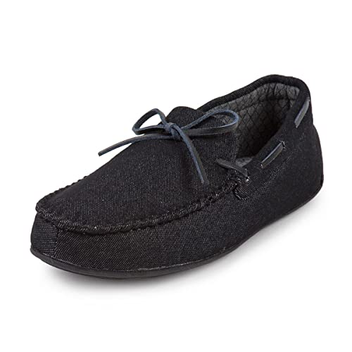 Isotoner Mens Denim Moccasin Slippers  Amazon.co.uk  Shoes   Bags 68348dd4c61e