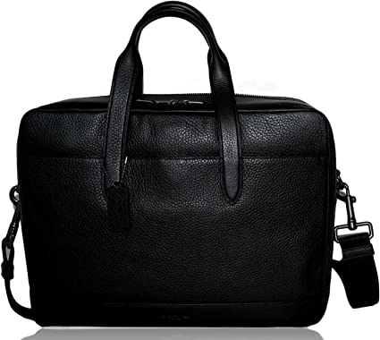 Coach Sac en cuir pour ordinateur portable Noir