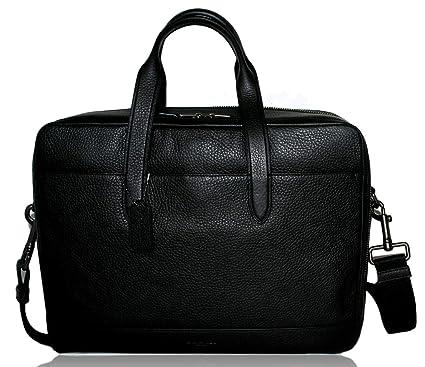 703f3ba5 Amazon.com | Coach Mens Leather Laptop Overnight Computer Bag Black ...