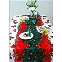 Nappe de Noël Rectangulaire Polyester 150 * 180cm noel de sapin Motifs pour Noel table decoration