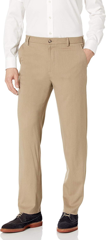 Van Heusen Men's Straight Fit Stretch Flat Front Air Dress Pant