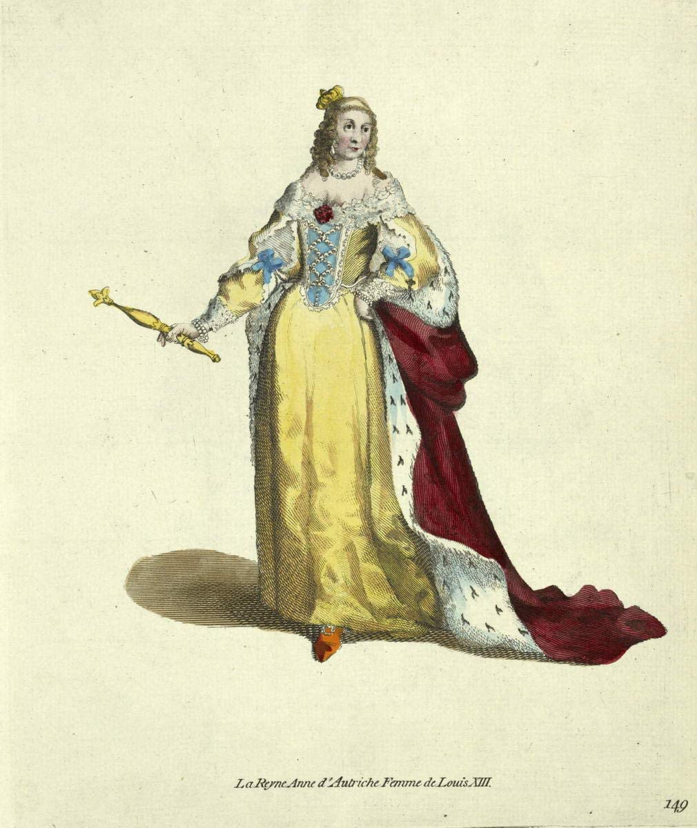 Thomas Jefferys Giclee Print On Canvas-Famous Paintings Fine Art Poster-Reproduction Wall Decor(Queen Anne Of Austria Wife Of Louis Xiii The Reyne Anne Dautriche)Large Size 26.5 x 31.5inches