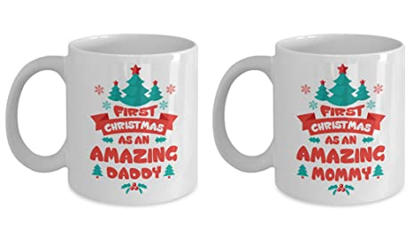 new parents new dad new mom gifts first christmas as an amazing mommy daddy mug best