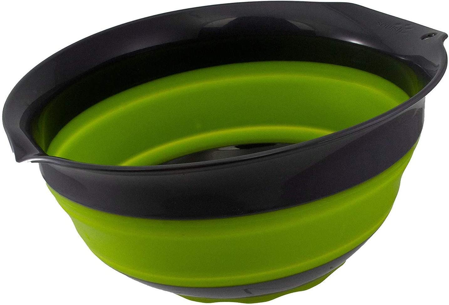 Squish 5 Quart Collapsible Mixing Bowl - Green & Gray
