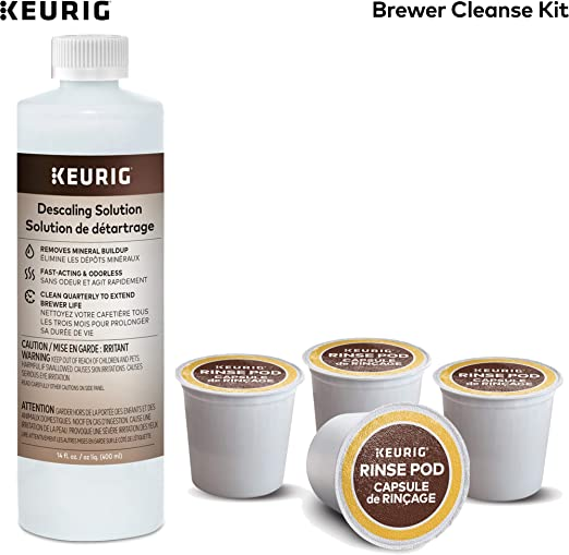 Keurig Brewer Cleanse Kit For Brewer Descaling and MaintenanceIncludes Descaling Solution & Rinse Pods, Compatible with Keurig Classic/1.0 & 2.0 K-Cup ...