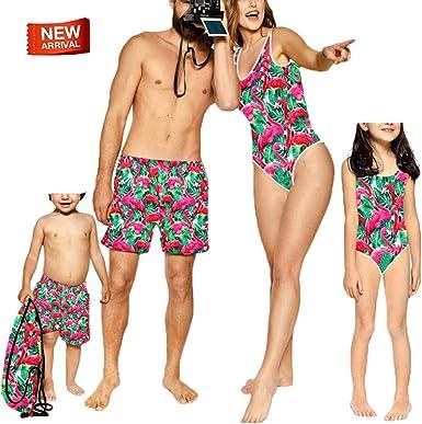 Amazon.com: Girls´ Fashion One Pieces Bikini,Family Matching Swimsuit Boys  Swimwear,Daddy&Boy Swim Trunks Bathing Suit Red -Green Boy 4-5T: Clothing