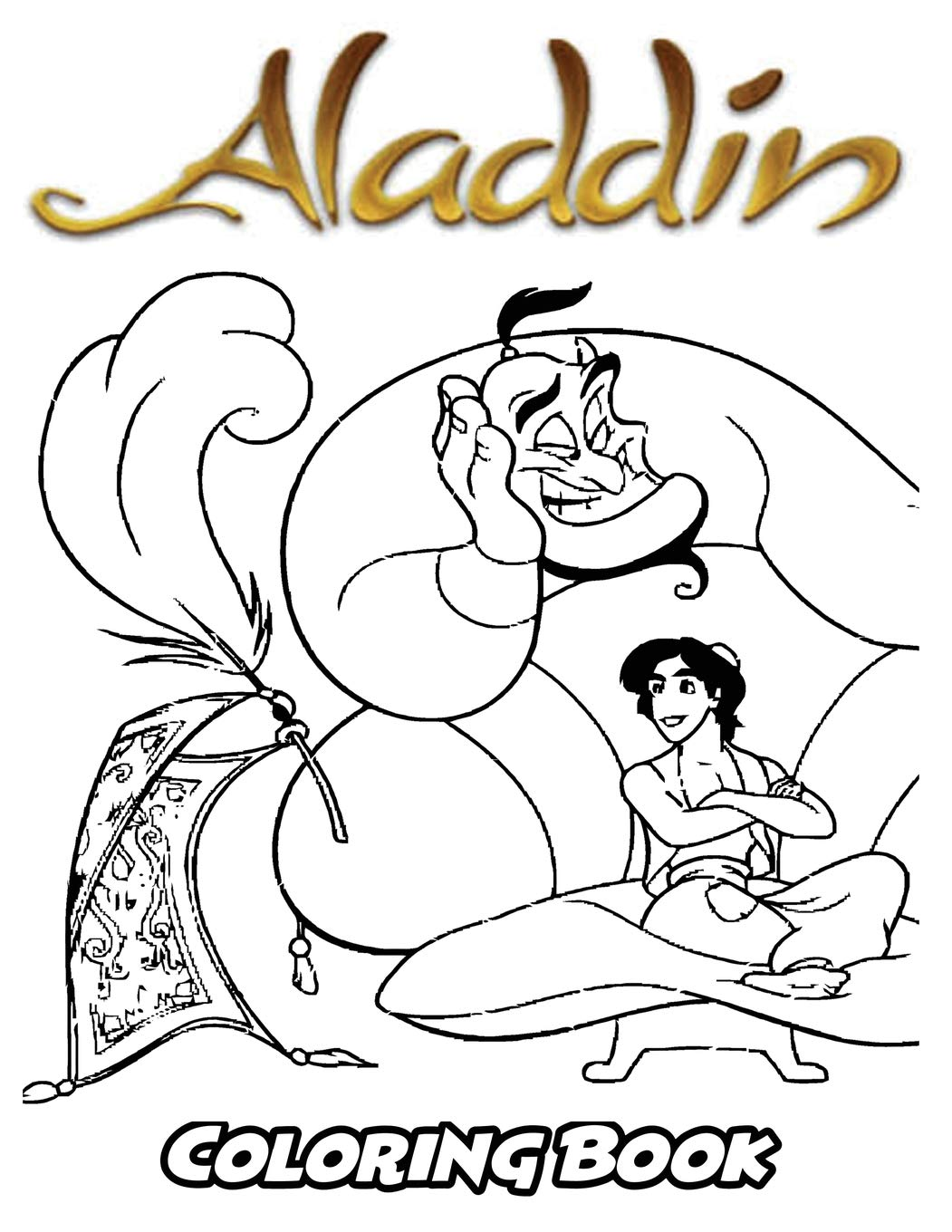 Buy Aladdin Coloring Book: Coloring Book for Kids and Adults ...