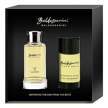 Baldessarini – Frasco de agua de colonia para hombre de 75 ml + desodorante en barra