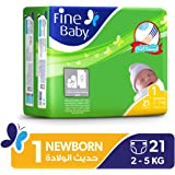 Fine Baby Diapers Mother's Touch Lotion, New Born, 21 Count