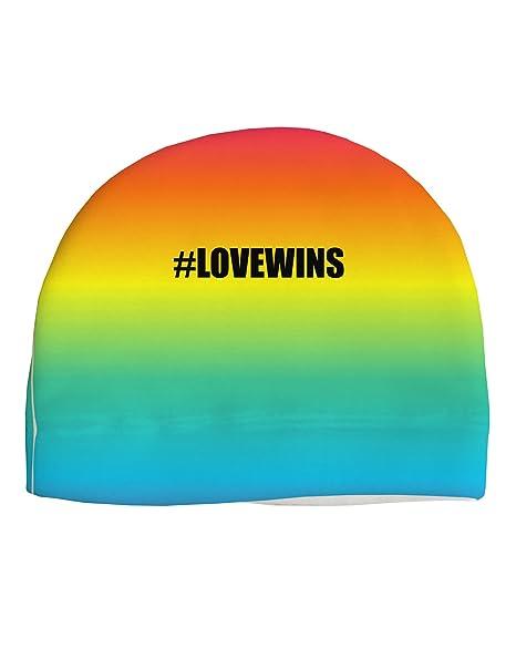 4dba279fe6a Amazon.com  TooLoud Rainbow Print - Hashtag Love Wins Child Fleece ...