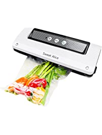 Amazon food processing game handling sports outdoors sweet alice vacuum sealer 3 in 1 with free bag roll for foods savers sous vide fandeluxe Image collections