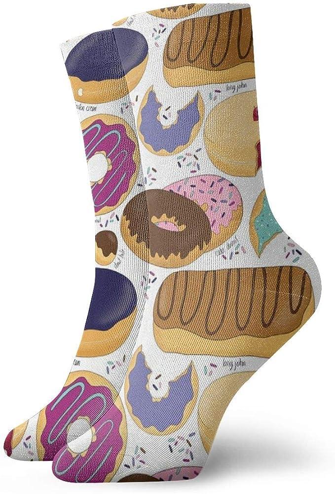 Huabuqi Calcetines para damas 39-42 Yum-O Donuts Color_4512, 100 ...