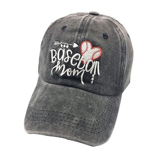 de56b2db2 Waldeal Embroidered Unstructured Baseball Mom Vintage Adjustable Ballcap  Cotton Denim Dad Hats Gift for Mom Grandma