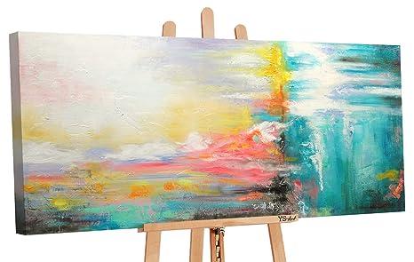 Ys Art Acryl Gemalde Wunderschoner Laune Handgemalt 115x50cm