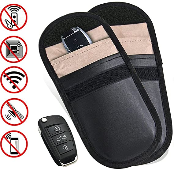 RFID radiation protection bag for keyless keys car key signal blocker